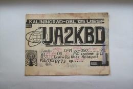 QSL,RADIO AMATEUR-RUSSIA,KALININGRAD - Radio Amateur