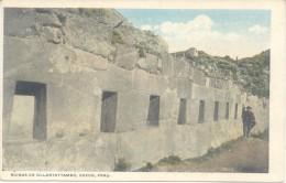 RUINAS DE OLLANTAYTAMBO CUZCO CUSCO PERU CPA ANIMEE CIRCA 1910 EDITOR H. G. ROZAS DOS DIVISE UNCIRCULATED TBE