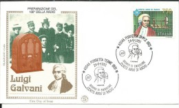 FDC205 - 24.9.1991 - LUIGI GALVANI - ANNULLO SPECIALE - 6. 1946-.. Repubblica