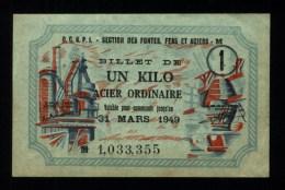 Bon De Matière 1 Kg Acier Ordinaire (art.N° 136 ) - Bons & Nécessité