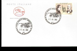 2003 ANNULLO FDC Invenzione Del Motore A Scoppio Da Parte Di Padre Eugenio Barsanti E Felice Matteucci. - Wissenschaften