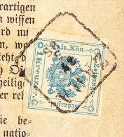 """Komplette Zeitung """"Agramer Tagblatt"""" Mit Zeitungsmarke 1 Kreuzer Blau Gest. """"ZARA 27.5.86"""" - Briefe U. Dokumente"""