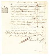 Frachtbrief Von Smyrna Nach Triest (Bord Der Matilda) Desinfektion Stempel Semlin 1822 - 1858-1921 Ottoman Empire