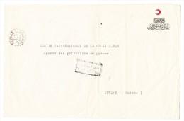 1918 Lettre à En Tête Croissant Rouge  Pour Genève  C.I.C.R. Cachet D´Arrivée Et De Censure à Galata - Briefe U. Dokumente