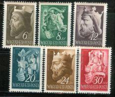 HUNGARY 1942 HISTORY Famous People HUNGARIAN KINGS - Fine Set MNH - Nuovi