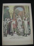 Ref 65- 4 Gravures -le Sultan Du Maroc -tentative De Suicide De Samory -m Cambon -caravane De Touareg Au Velodrome D Hiv - Prints & Engravings