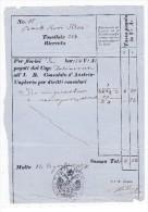 Quittung 16.8.1871 Für Das Österreicher Konsulat In Malta - Ovaler Stempel - Seltener Beleg - 1850-1918 Imperium