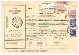 Paketkarte Russland 6-9-1913 Nach Davos-Platz CH Grüner Zoll-Stempel Basel + Zollfrei - 1857-1916 Empire