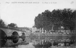 Cpa 1916, SAINT POURCAIN SUR SIOULE, Les Arcades Du Pont Sur La Sioule (42.79) - France