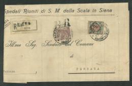RACCOMANDATA DA SIENA A FERRARA - 16.10.1928. - Storia Postale
