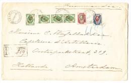 R-Brief 14.10.03 Russische Post In Constantinopel Nach Amsterdam Mit AK-Stempel - 1857-1916 Empire