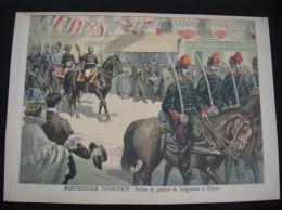 Ref 63- 4 Gravures -4 Prints- Militaires Militaria -manifestation Patriotique -general De Garnier Des Garets -manoeuvres - Prints & Engravings