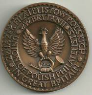 1958.PHILATELIC  MEDAL  AS  ISSUED  BY  UNION  OF  POLISH  PHILATELISTS  IN  Gt. BRITAIN - Professionals/Firms