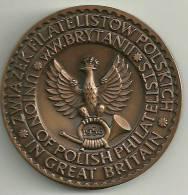 1958.PHILATELIC  MEDAL  AS  ISSUED  BY  UNION  OF  POLISH  PHILATELISTS  IN  Gt. BRITAIN - Professionnels/De Société