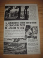 Reportage Met Foto´s Uit Oud Tijdschrift 1933 - Les Chapeaux De Paille De La Vallée Du Geer - Une Industrie Belge Autref - Vieux Papiers