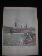 Ref 57- 4 Gravures -4 Prints- Marine Militaire- Bateaux De Guerre -toulon -var-le Havre -seine Maritime -villefranche  - - Prints & Engravings