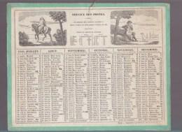 al-  Calendrier - Ann�e 1848 - Service des Postes - Etrennes des Facteurs avec Noms des Facteurs