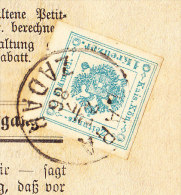 """Komplette Zeitung """"Agramer Tagblatt"""" Mit Zeitungsmarke 1 Kreuzer Blau Gest. """"ZARA-ZADAR""""23.7.1986 - Zeitungsmarken"""