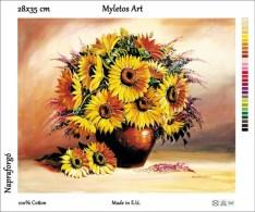 New Tapestry, Gobelin, Picture, Print, Still Life, Flower, Sunflower Bouquet - Creative Hobbies