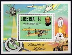 Liberia 1979 Sir Rowland Hill Block MNH Air Satellite - Rowland Hill