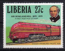 Liberia 1979 Sir Rowland Hill Stamp MNH Train Stanier Steamlined Pacific - Rowland Hill