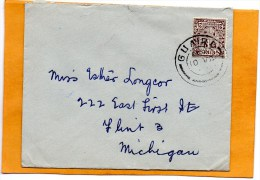 Ireland Old Cover Mailed To USA - 1937-1949 Éire