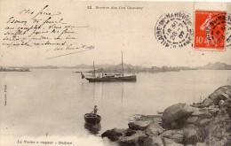 """CPA -  Service Des ILES  CHAUSEY   ( 50 - GRANVILLE )   Le Yacht à Vapeur  """" ONDINE """"   1907 - Granville"""