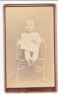 23905 Photographie Ancienne - Photographe Ernest Oblin -35 France Saint Malo Rue St Vincent -enfant Bebe