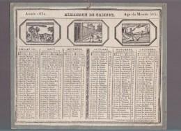 al-  Calendrier - Ann�e 1831  - Almanach de Cabinet - �diteur caillot - illustr� de 6 cartouches