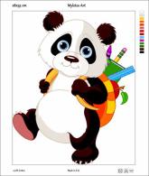 New Tapestry, Gobelin, Picture, Print, Tale, Animal, Panda Bear, School - Creative Hobbies