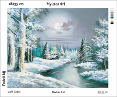New Tapestry, Gobelin, Picture, Print, Winter Landscape, Snow, Forest - Creative Hobbies