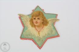 Old Angel Head Image - Germany Victorian Embossed, Die Cut/ Scrap Paper - Cromos Troquelados
