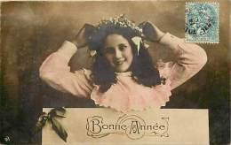 Themes - Enfants - Ref 509 - Fantaisie - Portrait D Une  Fillette - Fillettes - Fille - Filles  -carte Bon Etat - - Portraits