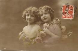 Themes - Enfants - Ref 506 - Fantaisie -portrait De Deux Fillettes - Carte Bon Etat - - Portraits