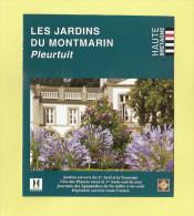 * Dépliant  Illustré ( Haute Bretagne )..dépt 35..PLEURTUIT  : Les Jardins Du Montmarin  - Voir  3 Scans - - Geografía
