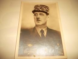 CPM:  GENERAL DE GAULLE - Personnages