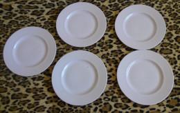 Vintage Retro Arabia Finland Pink Sointu Design Kaj Franck RARE Desert Plate X 5 - Ceramics & Pottery