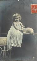 Themes - Enfants - Ref 487 - Fantaisie - Portrait De Fillette Et Chat -fillettes - Chats - - Portraits