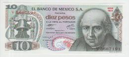Mexico 10 Pesos 1977 Pick 63i UNC - Mexico