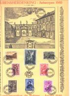 BE 504/511  °  Feuillet Souvenir  - RUBENS - Anvers 1940 - Variété : 511-V4 - Feuillets