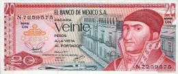 Mexico 20 Pesos 1977 Pick 64 UNC - Mexiko