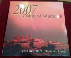 MALTA - OFFICIAL COIN SET 2007 (PRE EURO) - SET Of 8 COINS - Malta