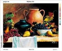 New Tapestry, Gobelin, Picture, Print, Still Life, Fruits, Grape, Jar - Creative Hobbies