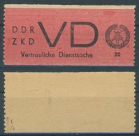 DDR Dienst Gruppe D Michel No. 1 I ** postfrisch Fingerspur / gepr�ft BPP Weigelt