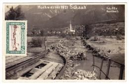 FL - Überschwemmung - Hochwasser 1927 Schaan - Liechtenstein