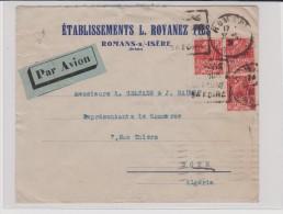 1931 - LETTRE PAR AVION De ROMANS SUR ISERE ( DROME )  POUR BONE ( ALGÉRIE ) - 1921-1960: Modern Tijdperk