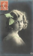 Themes - Enfants - Ref 449 -  Fantaisie - Portrait D Une   Fillette -  Carte Bon Etat - - Portraits