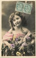 Themes - Enfants - Ref 442 -  Fantaisie  - Portrait De  Fillette - Moreau Photographe -  Carte Bon Etat - - Portraits