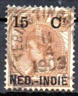 NETHERLANDS INDIES 1900 Queen Wilhelmina - 15c. On 15c. - Brown  FU - Netherlands Indies
