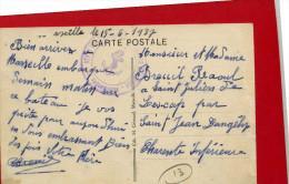 MARSEILLE 1937 BERNADIN DE SAINT PIERRE MESSAGERIES MARITIMES CACHET MILITAIRE TROUPES COLONIALES MARSEILLE - Marseille